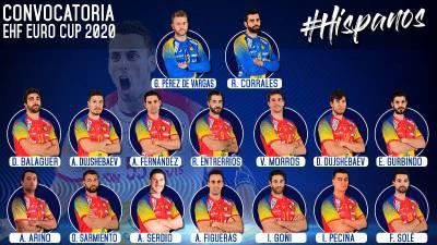 Abel Serdio gran novedad en la convocatoria de Jordi Ribera para la EHF Euro Cup